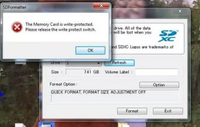 Memory card is write protected что делать?